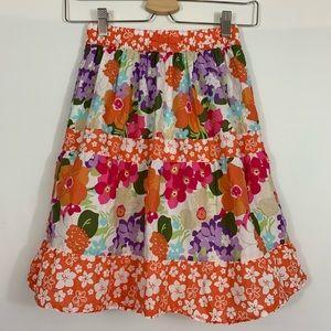 Gymboree long flower skirt size 6